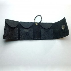 1x Black pouch, for 3 plectra, handcrafted